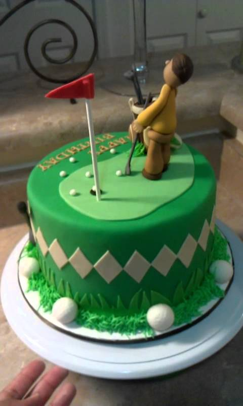 Happy Birthday Golf Cakes For Men