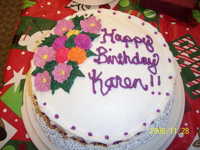 13 Birthday Cakes Happy Birthday Karen Photo Happy Birthday Karen