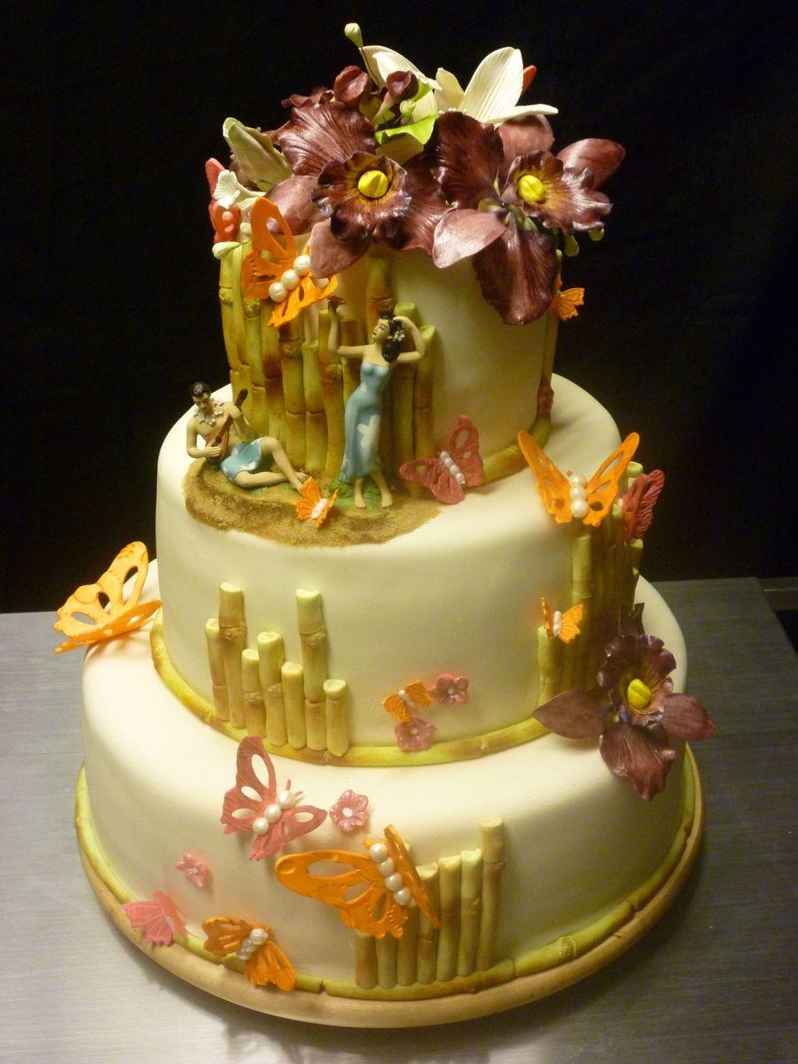 11 Wedding Cakes Hawaii Theme Wedding Photo Hawaiian Wedding Cake