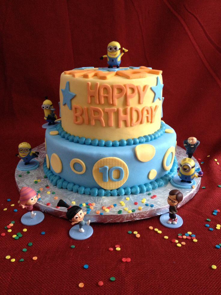 13 Minion Birthday Cakes Without Fondant Photo Despicable Me