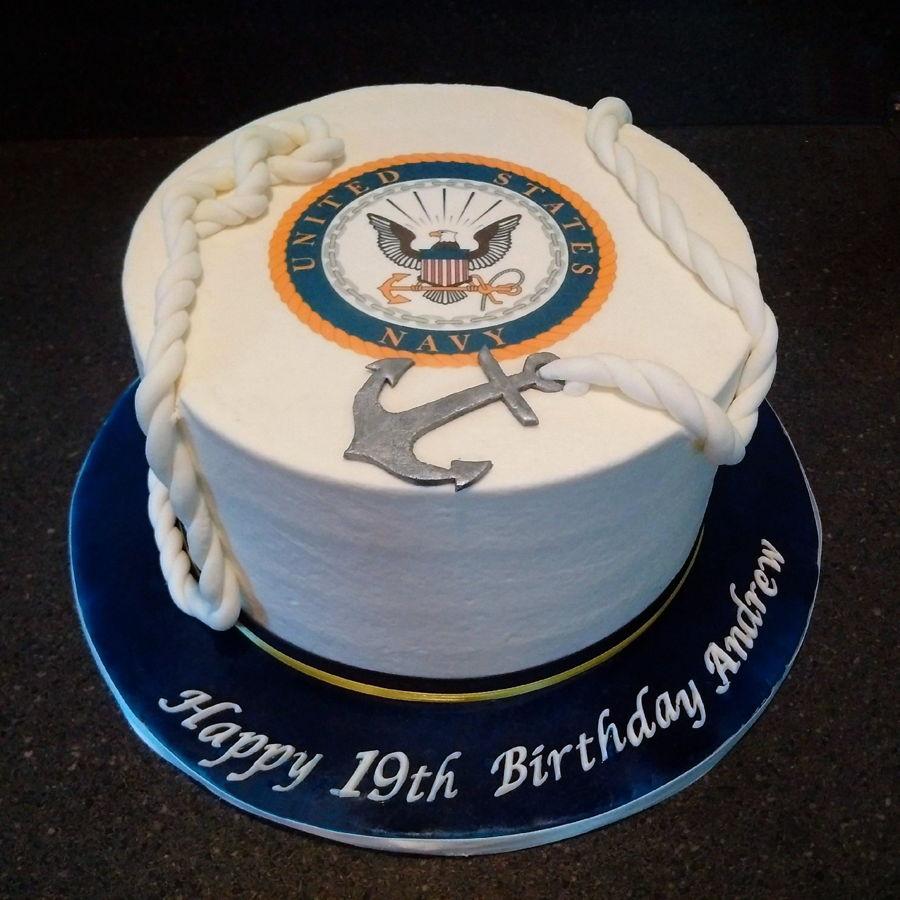 Pleasing 11 Navy Theme Sheet Cakes Photo Us Navy Cake Ideas United Funny Birthday Cards Online Fluifree Goldxyz