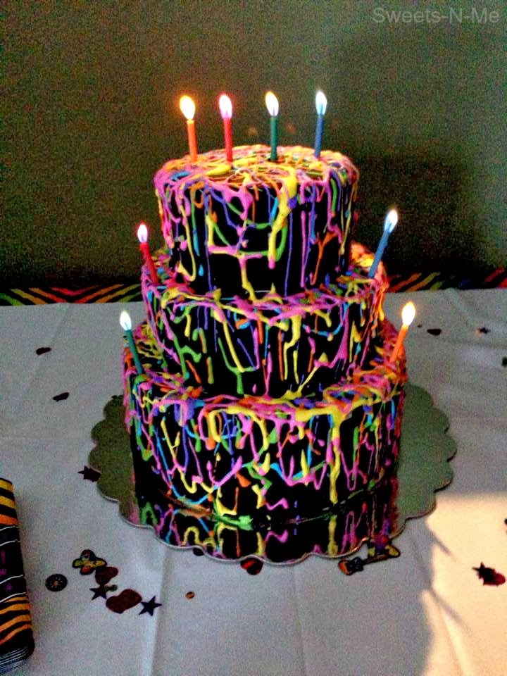 Outstanding 11 Amazing Birthday Cakes Neon Photo Neon Birthday Cake Ideas Birthday Cards Printable Riciscafe Filternl