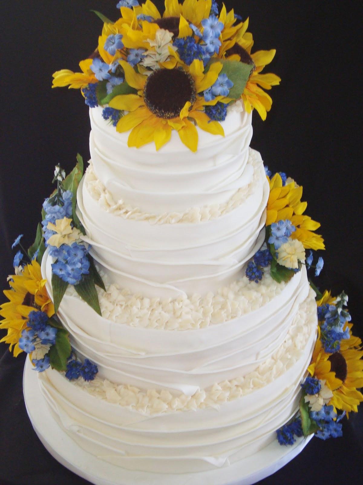 12 Huge Rustic Sunflower Wedding Cakes Photo - Rustic Wedding Cake ...