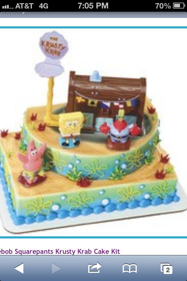 Awe Inspiring 11 Spongebob Cakes At Wal Mart Photo Spongebob Birthday Cakes At Funny Birthday Cards Online Fluifree Goldxyz