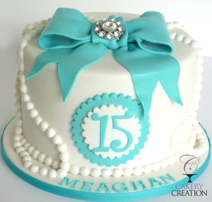12 15th Birthday Cakes For Girls Teal Photo 15th Birthday Cake