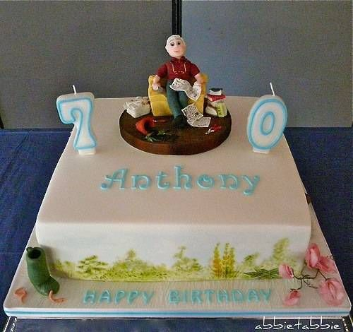 12 70th Birthday Cakes For Men Photo Man 70th Birthday Cake