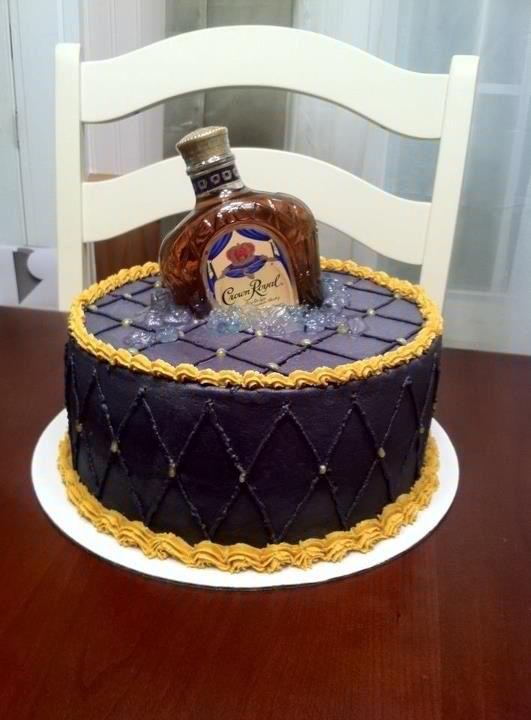 Wondrous 9 Liquor Themed Cakes Photo Alcohol Crown Royal Bottle Cake Funny Birthday Cards Online Elaedamsfinfo