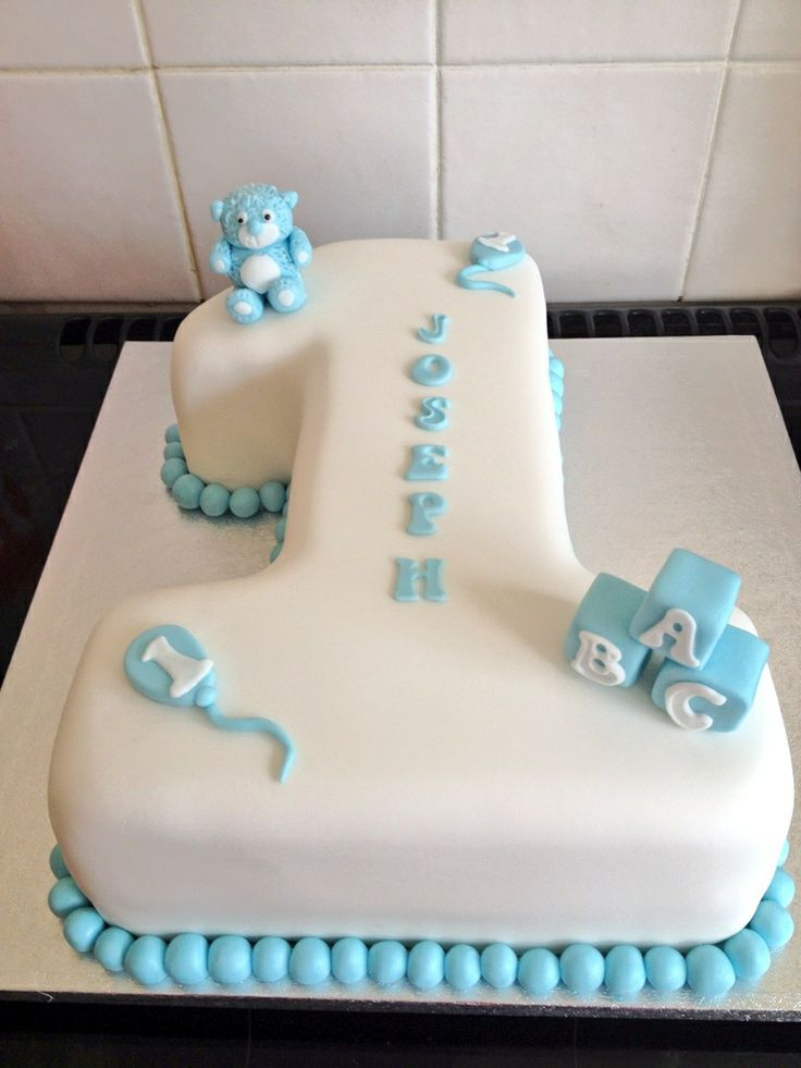 Baby Boy First Birthday Cakes Number 1