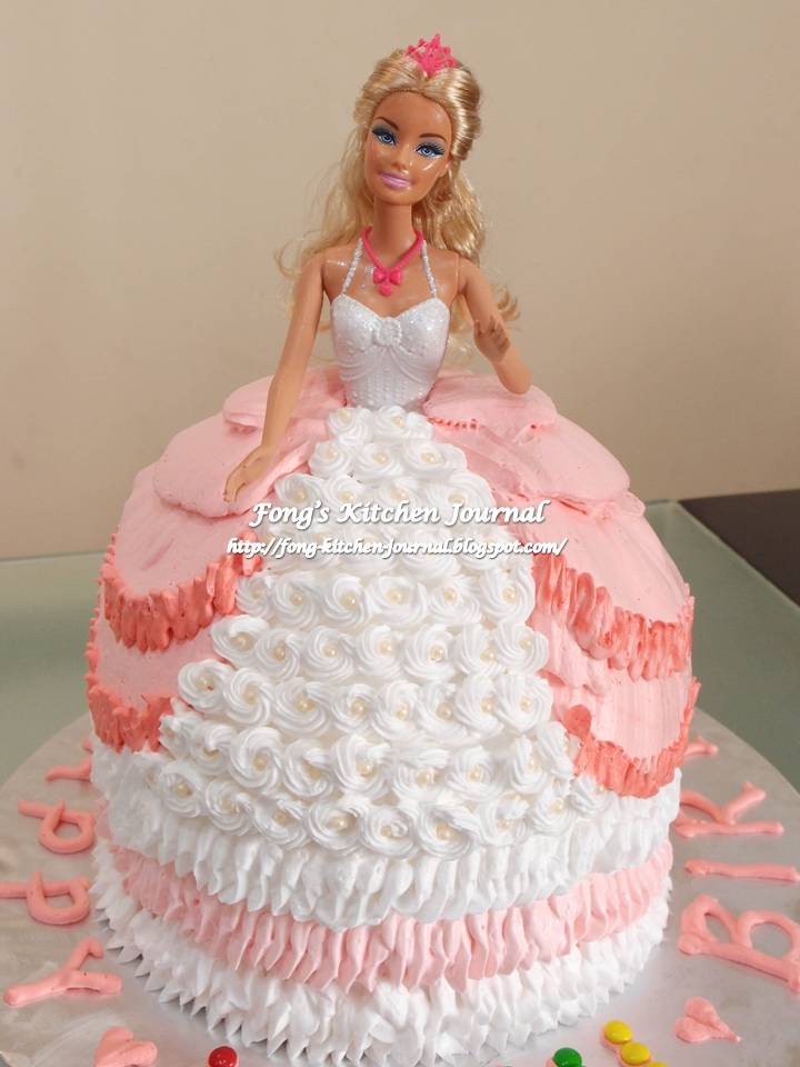 Swell 9 Barbie Doll Cakes For Girls Photo Barbie Doll Cake Barbie Birthday Cards Printable Opercafe Filternl