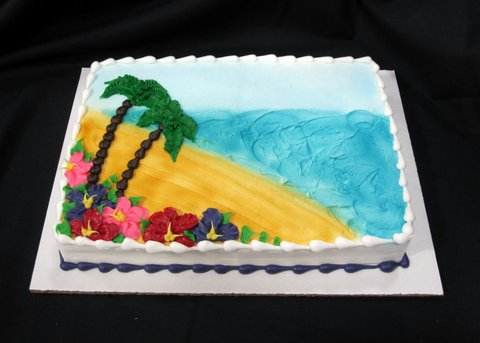 Awe Inspiring 12 Beach Present Cakes Photo Beach Birthday Cake Christmas Funny Birthday Cards Online Alyptdamsfinfo