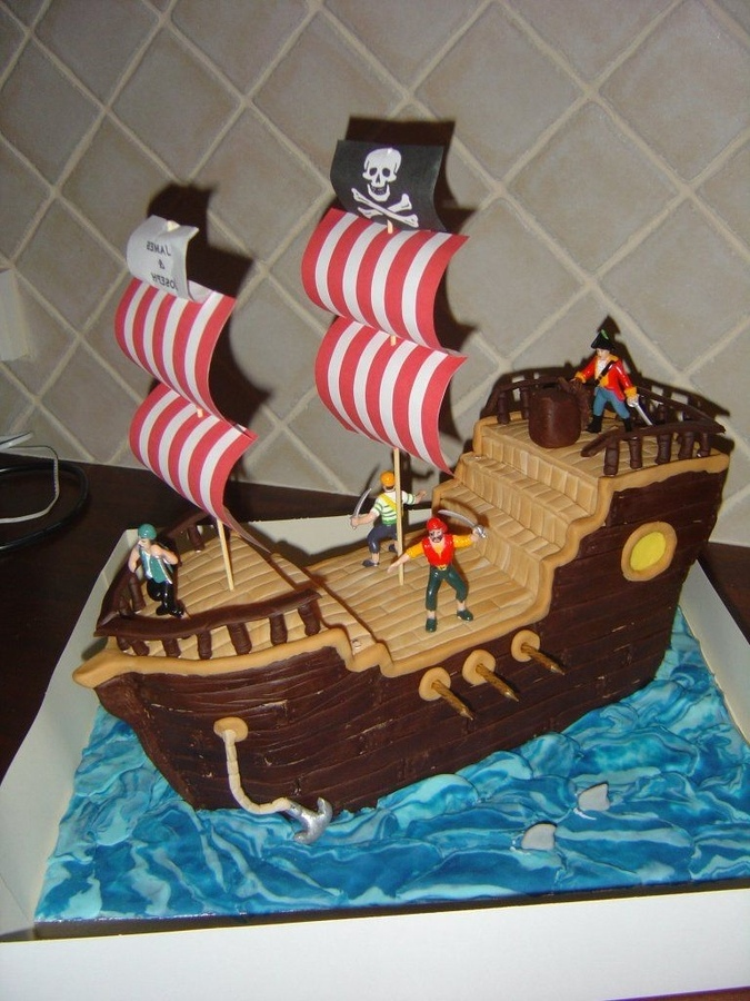 Excellent 10 Pirate Birthday Cakes For Boys Photo Boys Birthday Cake Ideas Birthday Cards Printable Inklcafe Filternl