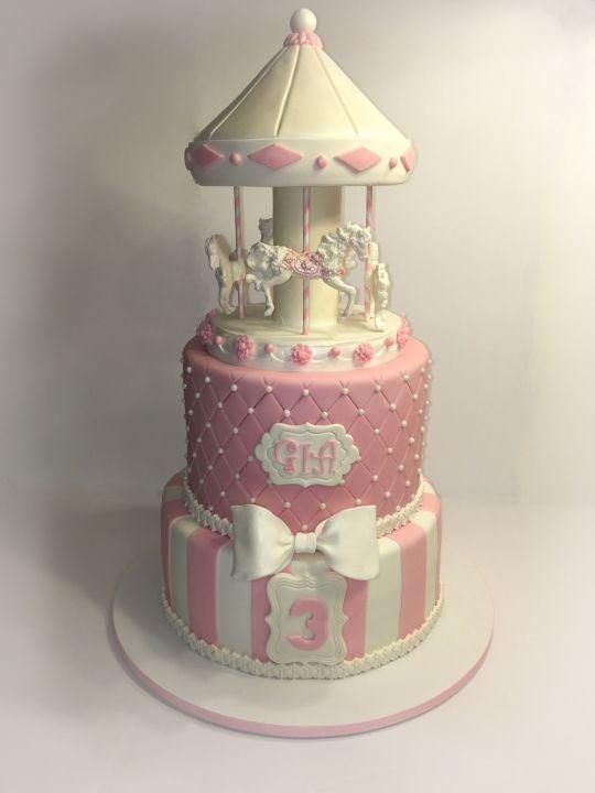 Astounding 9 Carousel Birthday Cakes Ideas Photo Carousel Cake Carousel Personalised Birthday Cards Akebfashionlily Jamesorg