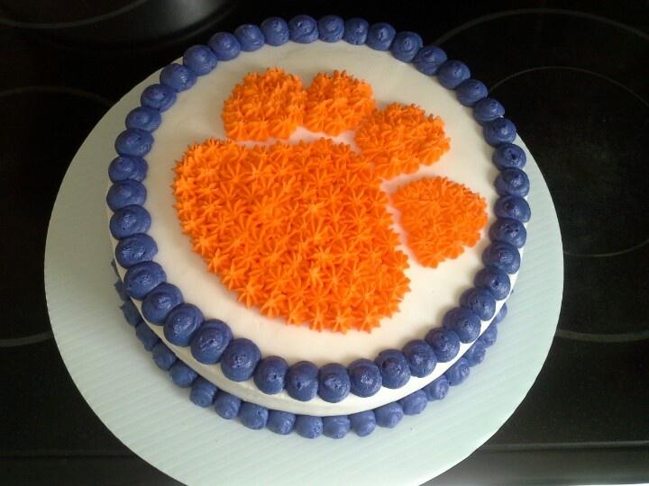 12 Cakes In Clemson Sc Photo Purple And Orange Wedding Cake
