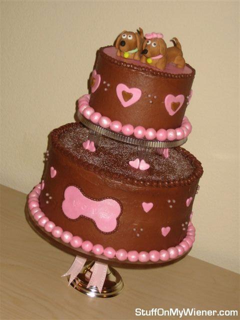 Dachshund Dog Birthday Cake