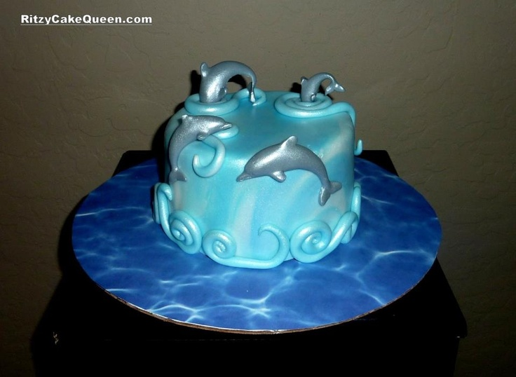 Awe Inspiring 11 With Dolphins On The Cake Birthday Cakes Photo Dolphin Funny Birthday Cards Online Alyptdamsfinfo