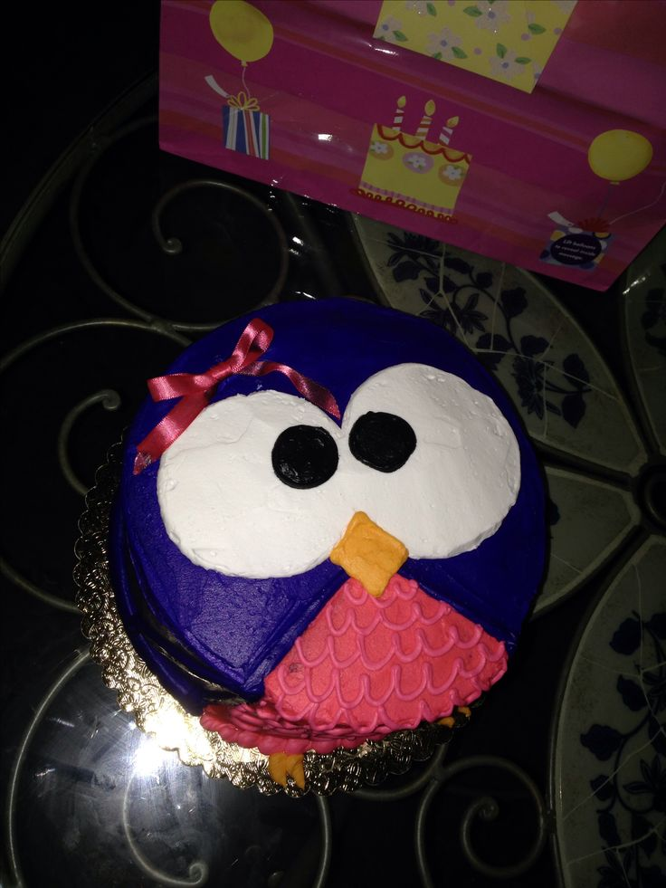 Awe Inspiring 10 Easy To Make Owl Birthday Cakes Photo Easy Owl Birthday Cake Funny Birthday Cards Online Drosicarndamsfinfo