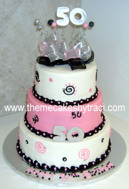Elegant 50th Birthday Cake Ideas For Women