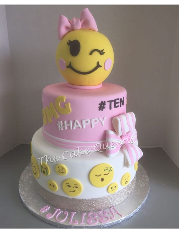 10 Emoji Birthday Cakes For Girls Photo
