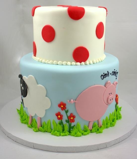 7 Whimsy Cakes Fresno Photo Farm Animals Birthday Cake Farm