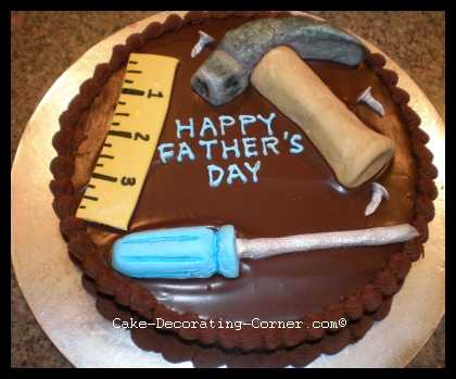 Father's Day Tools Cake