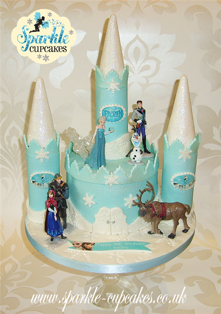 12 Frozen Castle Cakes For Girls Photo Frozen Birthday Cake Ideas