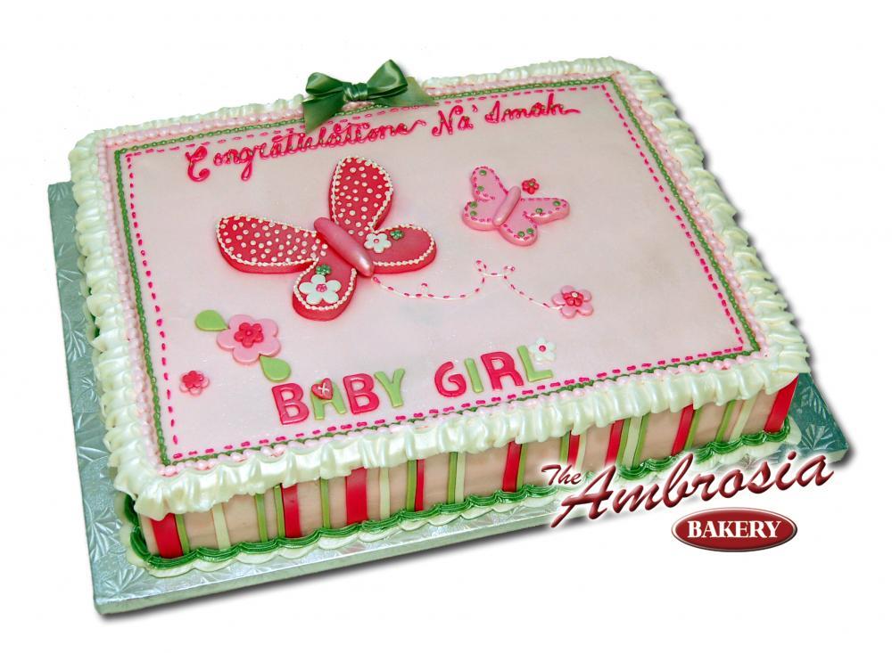 10 123 Baby Shower Sheet Cakes Photo Girl Baby Shower Sheet Cake
