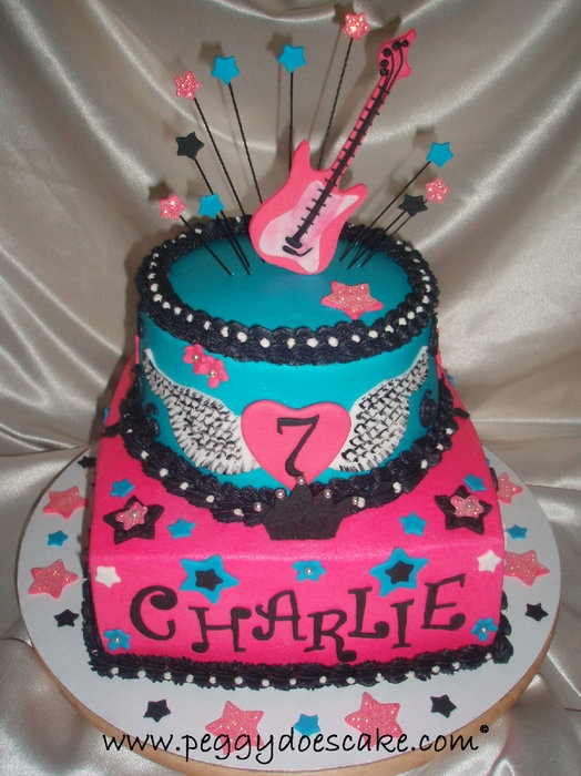Groovy 11 Rock Star Cakes For Girls 10Th Birthday Photo Girls Rock Star Funny Birthday Cards Online Kookostrdamsfinfo