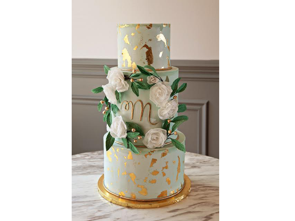11 Rustic Gold Leaf For Cakes Photo Buttercream Wedding Cake With