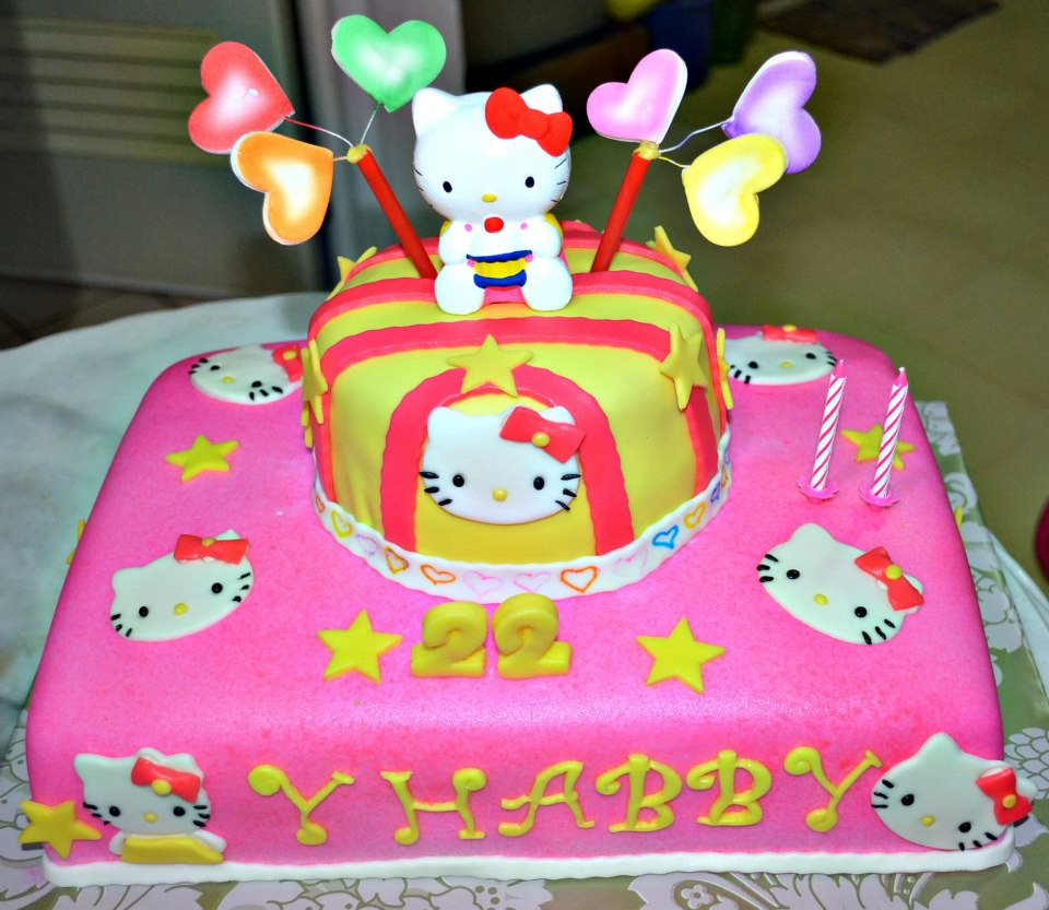 5 Goldilocks Cakes Hello Kitty Photo Hello Kitty Character Cake