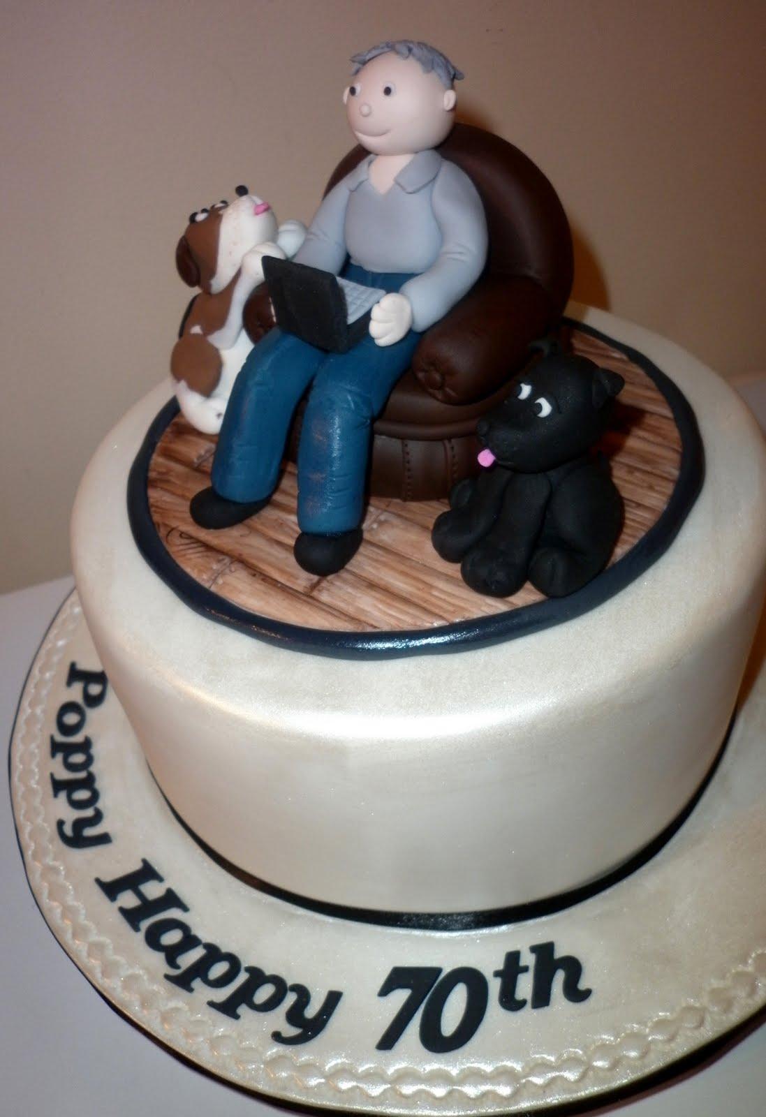 Man 70th Birthday Cake