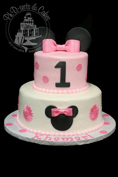 Groovy 12 Cute Minnie Mouse 1St Birthday Cakes Photo Minnie Mouse Birthday Cards Printable Benkemecafe Filternl