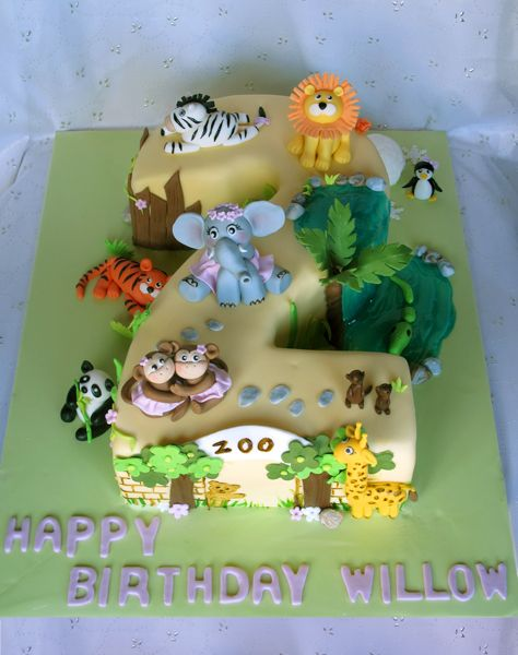 Awesome 8 Flat Animal Themed Birthday Cakes Photo Number 2 Shaped Personalised Birthday Cards Sponlily Jamesorg