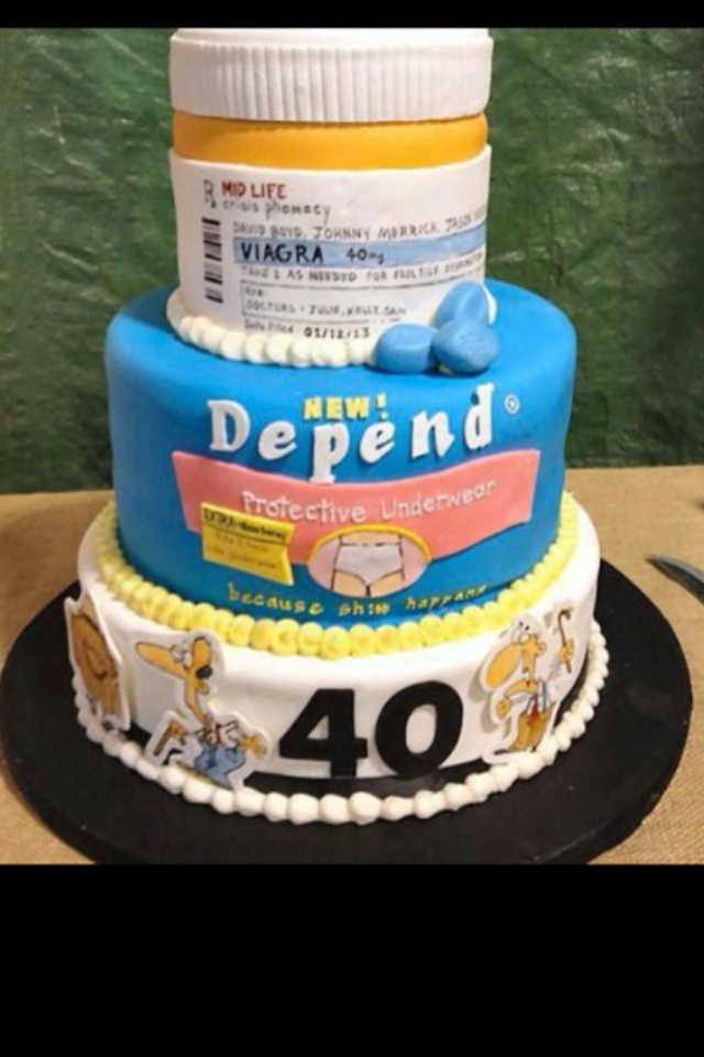 Old Man Birthday Cake