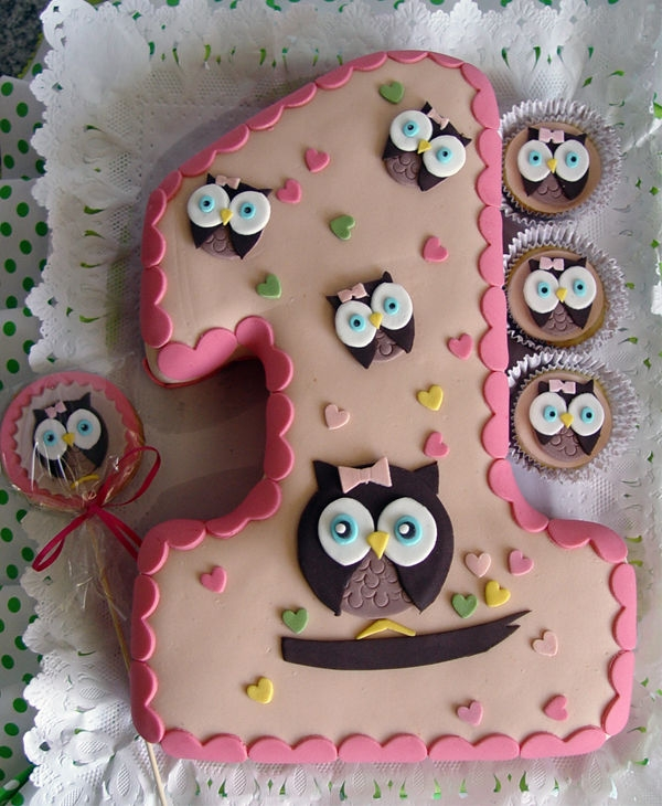 7 Owl Birthday Cakes One Year Old Photo Pictures Of One Year Old