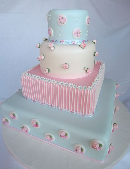 11 Blue Wedding Cakes Uk Photo Blue And White Lace Wedding Cake