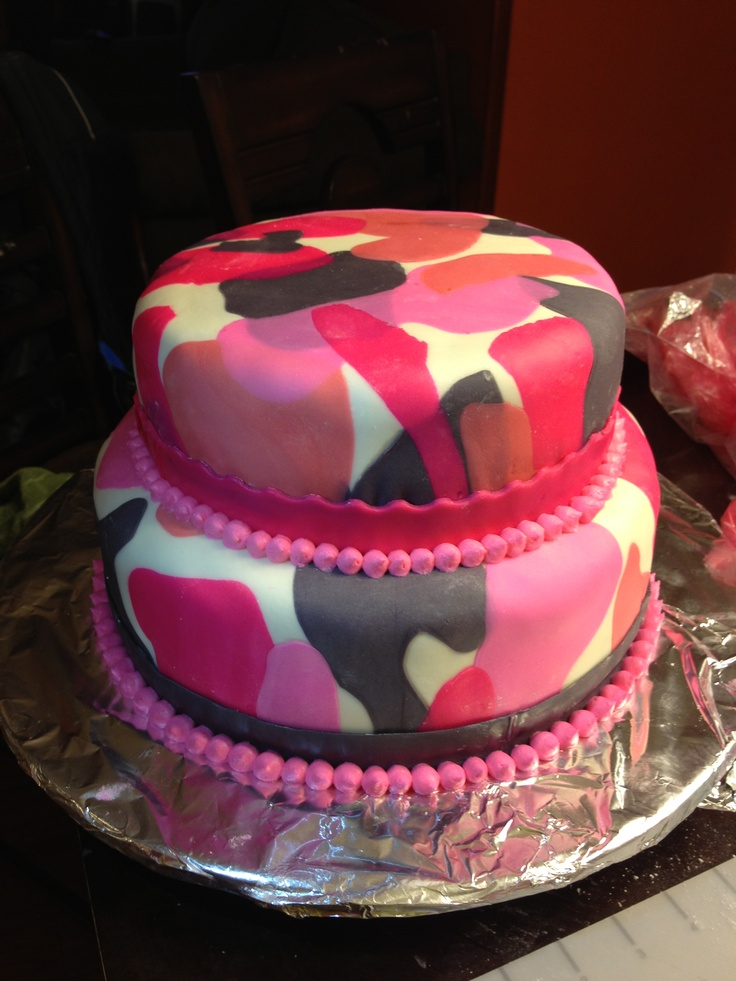 Terrific 10 Pink Hunting Cakes Photo Pink Camo Birthday Cake Ideas Pink Funny Birthday Cards Online Overcheapnameinfo