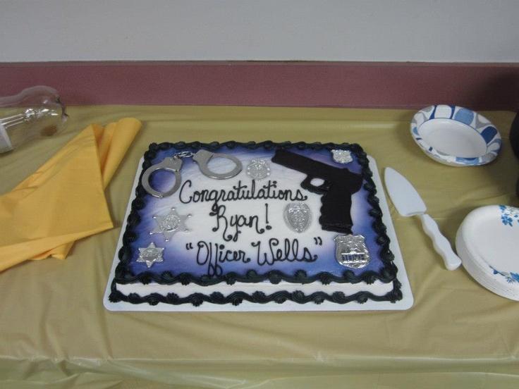 Police Graduation Cake