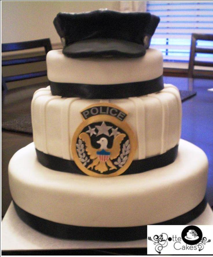 Police Retirement Cake Ideas