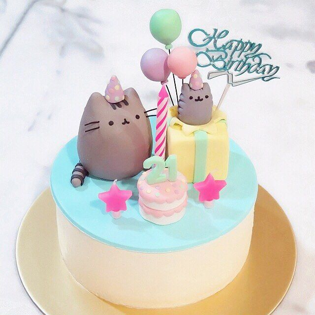 9 Gorgeous Cat Birthday Cakes Photo
