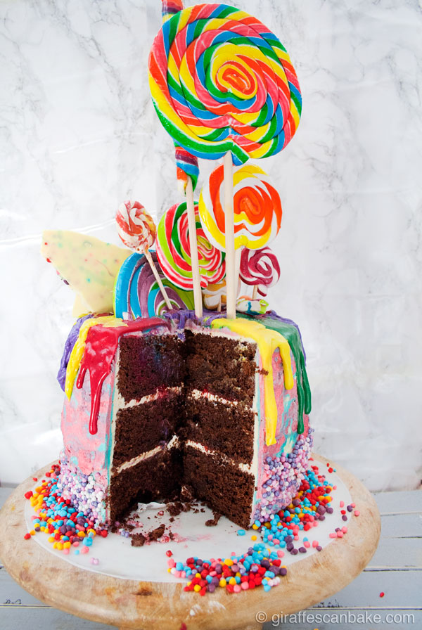 11 Rainbow Birthday Chocolate Cakes Photo Rainbow Candy Birthday