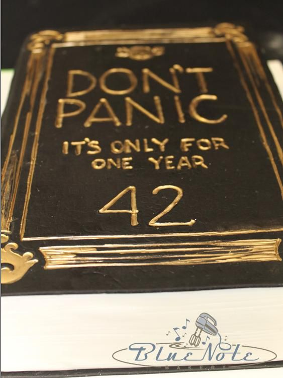 6 Number Birthday Cakes 42 Photo The Hitchhikers Guide To The