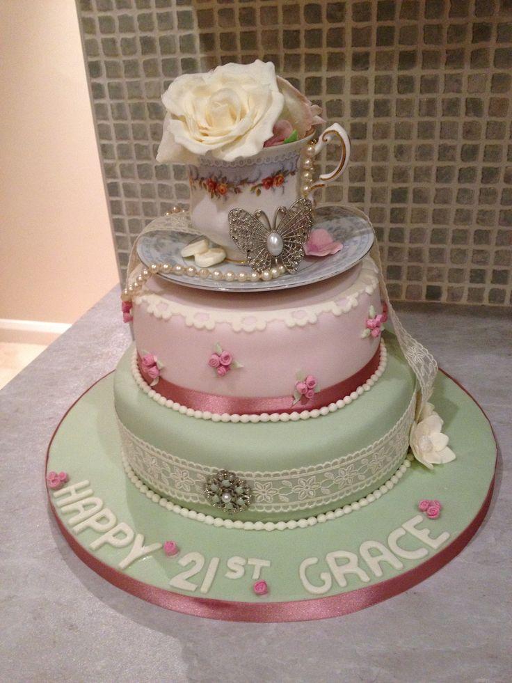 12 Antique Anniversary Cakes Photo Vintage Birthday Cake Vintage