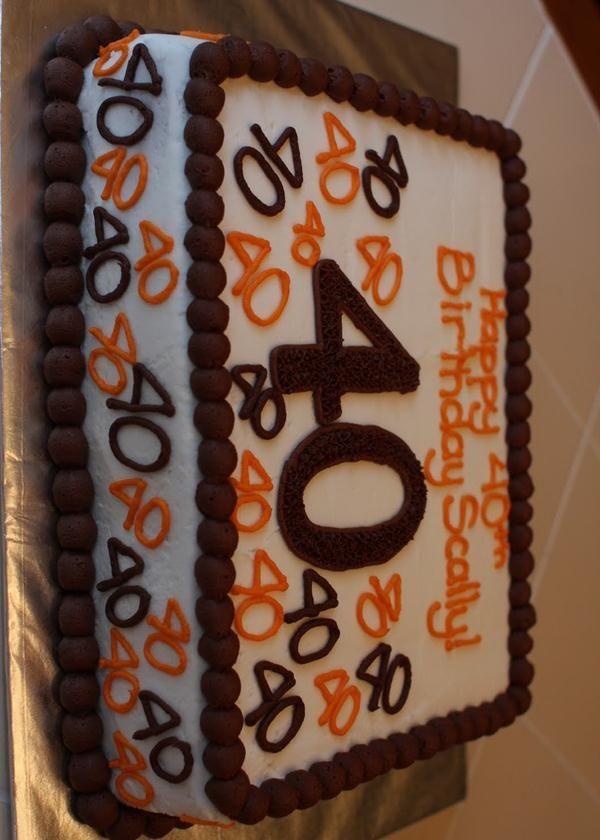 40th Birthday Sheet Cakes For Men