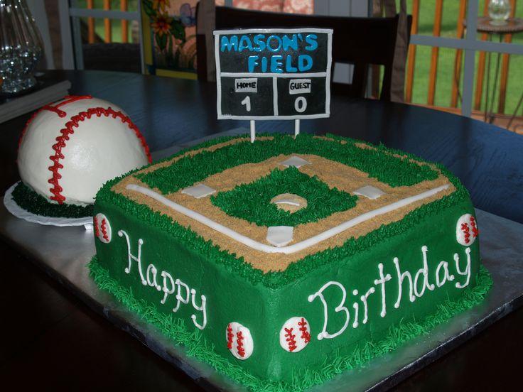 Outstanding 8 Toy Birthday Cakes For Baseball Players Photo Baseball Theme Funny Birthday Cards Online Necthendildamsfinfo