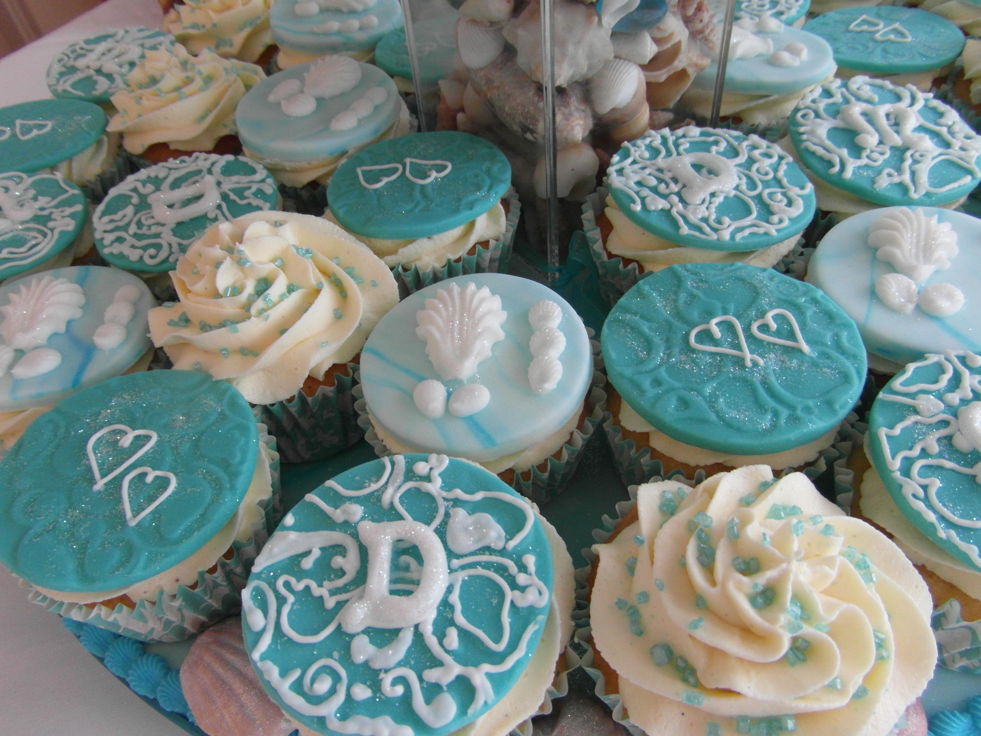 9 Elegant Beach Cupcakes Photo Beach Theme Wedding Cake With