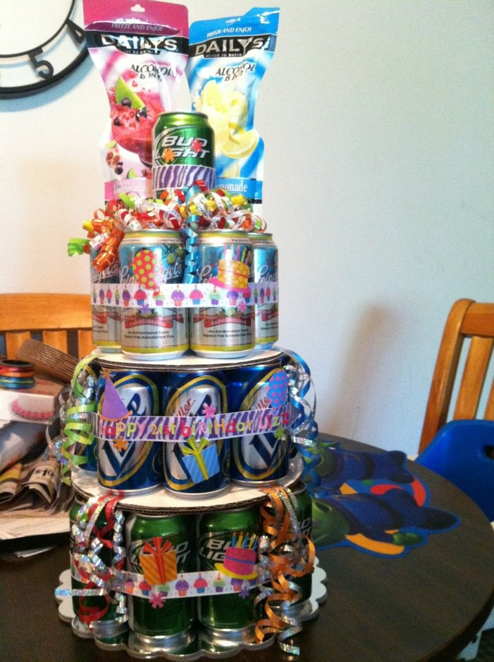 Birthday Cake Made Of Beer Cans