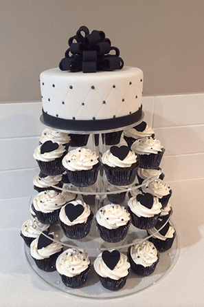 10 Cupcake Wedding Cakes Black White Photo - Black and White Wedding ...