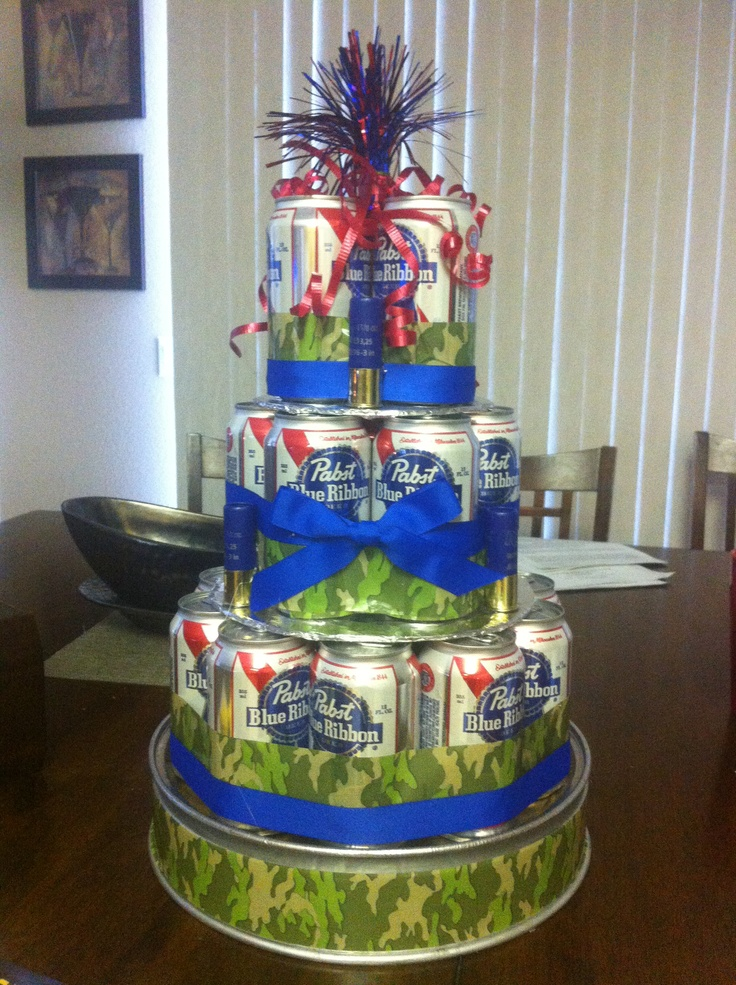 Marvelous 12 Beer Cakes Made With Beer Cans Photo Beer Can Cake Beer Can Funny Birthday Cards Online Alyptdamsfinfo