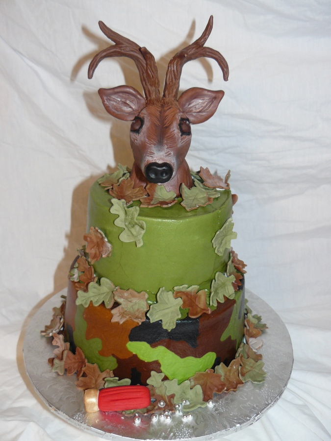 11 Deer Fondant Cakes Photo Deer Antler Cake Decorating Deer With