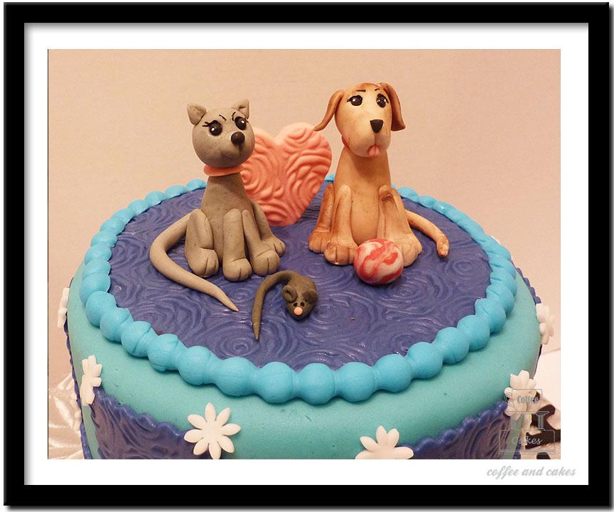 11 Cat And Dog Birthday Cakes Photo Cat And Dog Birthday Cake